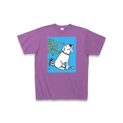 ハッピーパピーラブラドール Tシャツ Pure Color Print(ラベンダー)