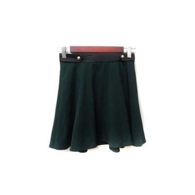【中古】ラブレス LOVELESS フレアスカート ミニ 34 緑 グリーン /YI レディース 【ベクトル 古着】
