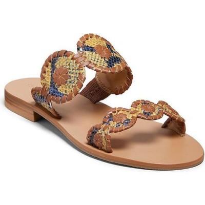 ジャックロジャース Jack Rogers レディース サンダル・ミュール シューズ・靴 lauren snake print sandals Yellow