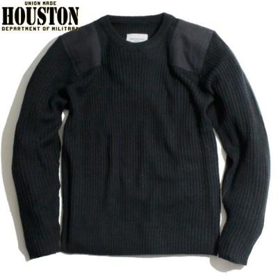HOUSTON ヒューストン コマンドセーター ニット ミリタリー ブラック