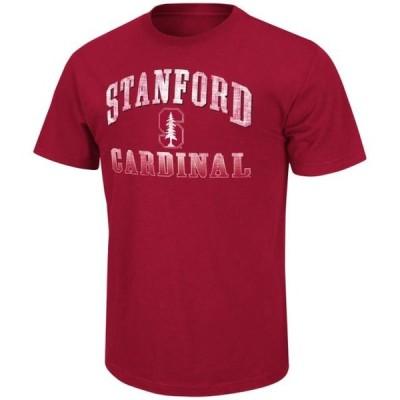 メンズ スポーツリーグ アメリカ大学スポーツ Stanford Cardinal NCAA Contour Men's Short Sleeve Distressed T-Shirt Tシャツ