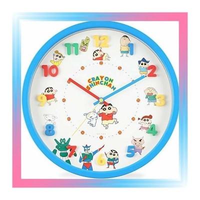 クレヨンしんちゃん 掛け時計 アナログ 連続秒針 立体文字盤 ブ