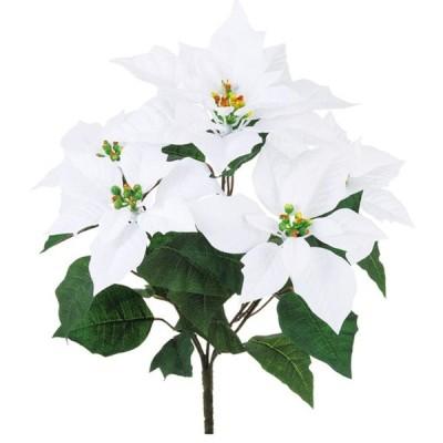 リリアポインセチアブッシュ WHITE 造花 フラワー ポインセチア