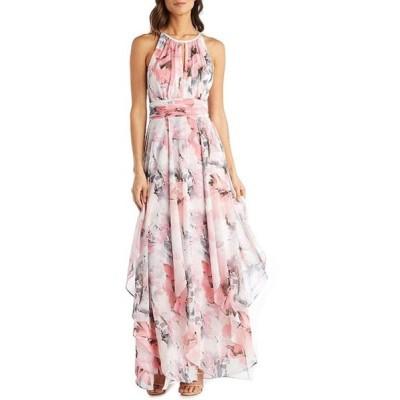 アールアンドエムリチャーズ レディース ワンピース トップス Halter Neck Floral Chiffon Maxi Dress