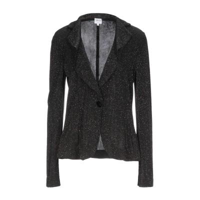 アルマーニ コレッツィオーニ ARMANI COLLEZIONI テーラードジャケット ブラック 46 アセテート 94% / ポリウレタン 6%