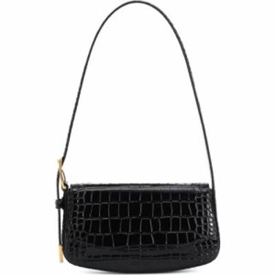 バレンシアガ Balenciaga レディース ショルダーバッグ バッグ ghost small leather shoulder bag Black