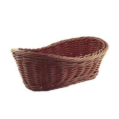 ナガオ かご バスケット 洗える フルーツバスケット 舟型 ブラウン 25cm 01012525