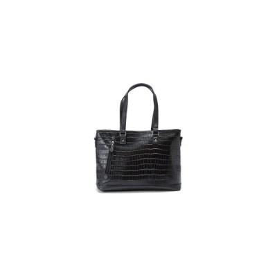 平野鞄  2WAY ビジネス バッグ  B4ファイル対応 【 ブラック 】 クロコダイル柄  KBN 53418