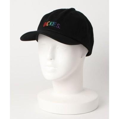 帽子 キャップ 【DICKIES/ディッキーズ】レインボーブランドロゴ 刺繍 ローキャップ