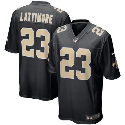 ナイキ メンズ Tシャツ トップス Marshon Lattimore New Orleans Saints Nike Event Game Jersey