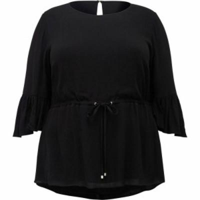 フォーエバーニュー Forever New レディース ブラウス・シャツ トップス Tammy Frill Sleeve Curve Blouse Black