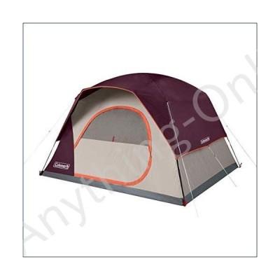 ★新品★Coleman Skydome 6 Person WeatherTec Easy Assembly Outdoor Family Camping Hiking Dome Tent, Blackberry【並行輸入品】