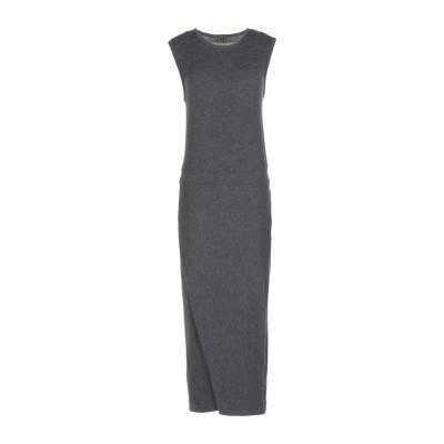 ENZA COSTA 7分丈ワンピース・ドレス スチールグレー M レーヨン 90% / ポリエステル 10% 7分丈ワンピース・ドレス
