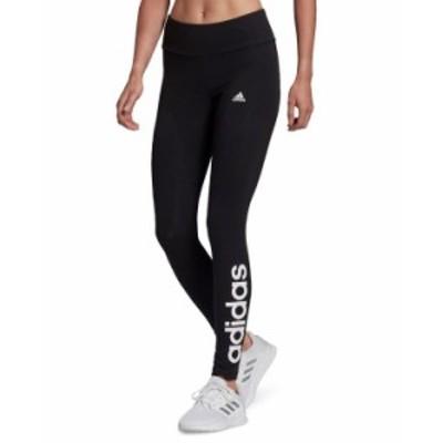 アディダス レディース カジュアルパンツ ボトムス Linear-Logo Leggings Black/White