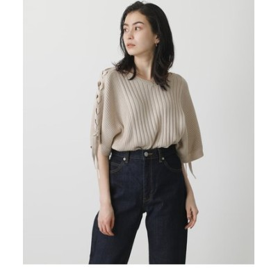 2WAY LACE-UP LOOSE KNIT