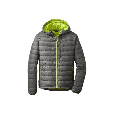 アウトドアリサーチ アウター Outdoor Research Transcendent Hooded Down ジャケット - メンズ Pewter/Lemongrass S