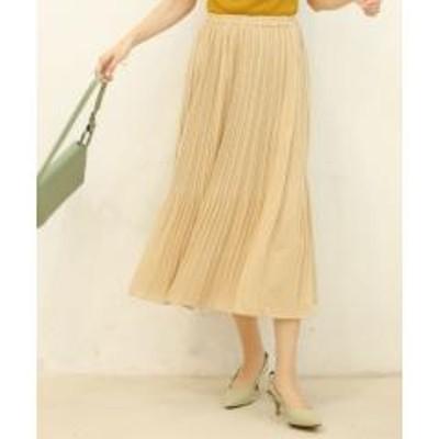 SAISON DE PAPILLON(セゾン ド パピヨン)裾消しプリーツフレアスカート【お取り寄せ商品】
