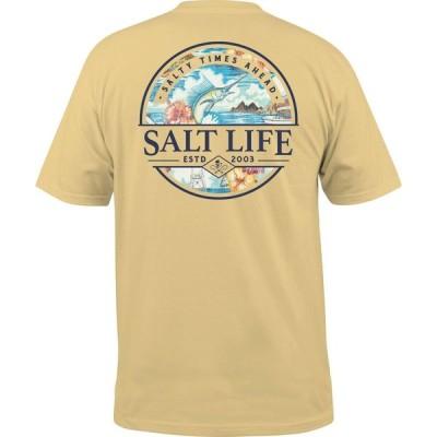 ソルトライフ Salt Life メンズ Tシャツ トップス Salty Times Ahead T-Shirt Golden Haze