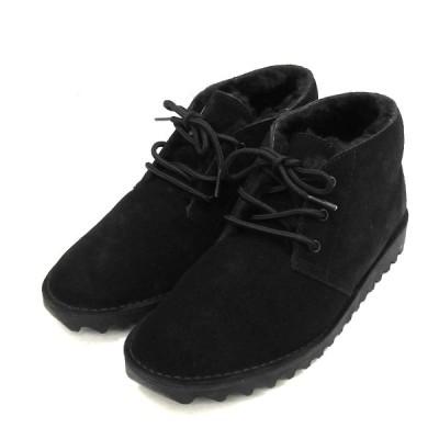 【11月23日値下】N.HOOLYWOOD × AIR WALK 「DESERT BOOT 1991」ムートンデザートブーツ ブラック サイズ:27.