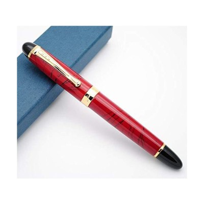 JINHAO ジンハオ X450 万年筆 金属ペン M型中字ペン先0.7mm (朱色)