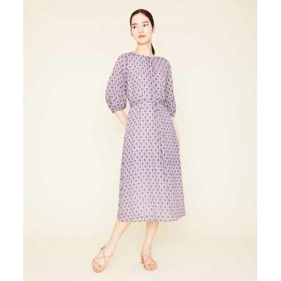 Sybilla/シビラ ジオメトリックプリントタックドレス ブルー 36