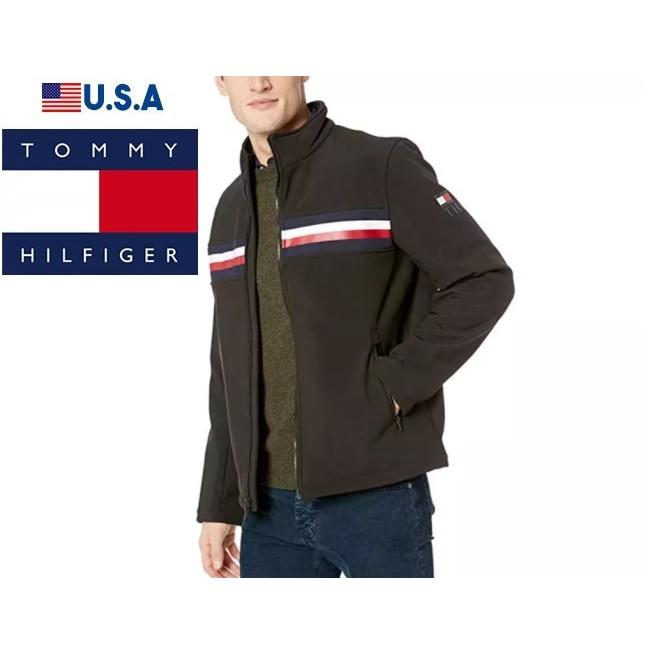 TOMMY HILFIGER (全新福利品) 男生防風夾克 立領外套 上班族 休閒夾克外套 黑色158AP520
