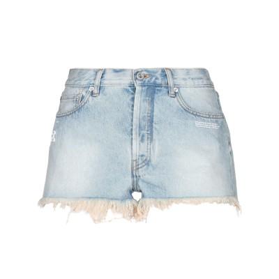 OFF-WHITE™ デニムショートパンツ ブルー 26 コットン 100% デニムショートパンツ