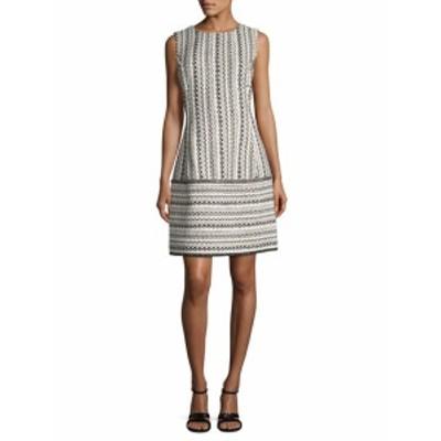 オスカーデラレンタ レディース ワンピース Striped Crewneck Dress