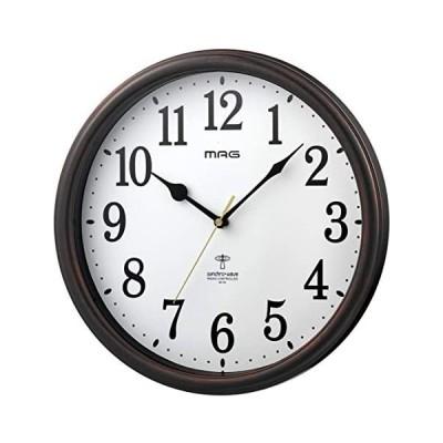 MAG(マグ) 掛け時計 電波 ブラウン 直径31cm アナログ ネメシス 連続秒針 W-741BR-Z (ブラウン 直径約31cm)