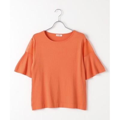 TABASA/タバサ シアーディティールニットトップス オレンジ F