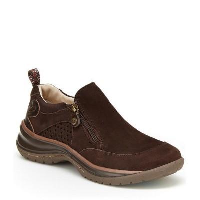 ジャンブー レディース サンダル シューズ Cecilia Water-Resistant Suede Leather Slip-Ons Brown