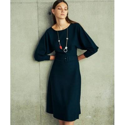 【キャスト】 ウエストマークニットドレス レディース グリーン5 M CAST:
