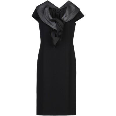 BOTONDI MILANO ミニワンピース&ドレス ブラック 44 キュプラ 100% ミニワンピース&ドレス