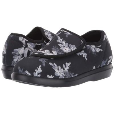 プロペット Propet レディース ローファー・オックスフォード シューズ・靴 Cush 'N Foot Black Floral