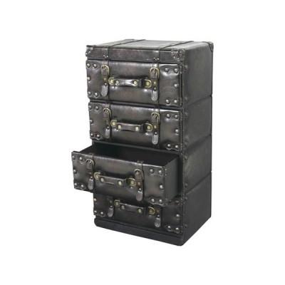 東谷 チェスト 4段(ブラック) Travel Furniture IW-874 返品種別A
