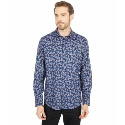 ロバートグラハム シャツ トップス メンズ Novena Long Sleeve Woven Shirt Blue