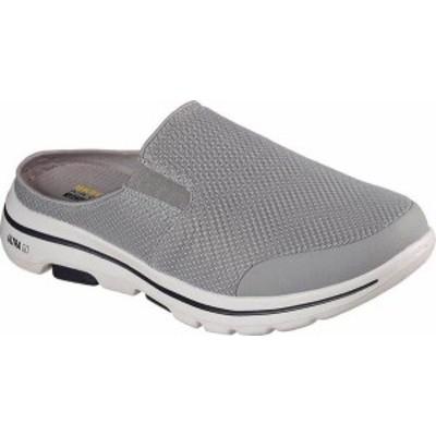 スケッチャーズ メンズ スニーカー シューズ Men's Skechers GOwalk 5 Exposure Backless Sneaker Gray