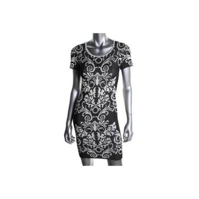 ドレス 女性  パーカー  Parker 1502 レディース ブラック-アイボリー Brocade Fitted Above Knee セータードレス M