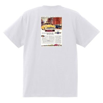 アドバタイジング シボレー ベルエア 1951 Tシャツ 088 白 アメ車 ホットロッド ローライダー広告 シェビー