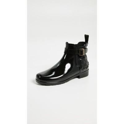 ハンター Hunter Boots レディース ブーツ チェルシーブーツ シューズ・靴 Refined Gloss Quilt Chelsea Boots Black