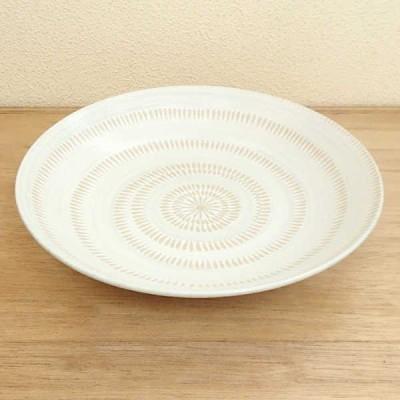 パスタ皿 カレー皿 かんな 丸7.5麺皿 22.7cm おしゃれ 業務用 和食器 美濃焼 9d40318-028