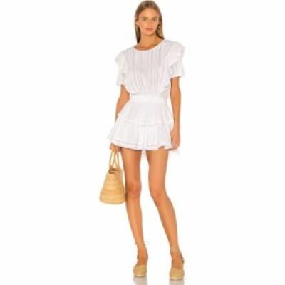 ラブシャックファンシー LoveShackFancy レディース ワンピース ワンピース・ドレス Natasha Dress White
