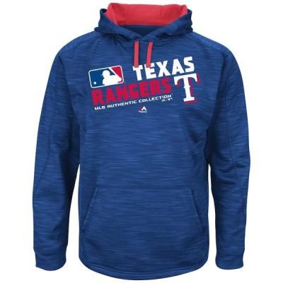 マジェスティック パーカー・スウェットシャツ アウター メンズ Texas Rangers Majestic Authentic Collection Team Choice Streak Hoodie Royal