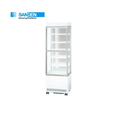 サンデン 三面ガラスショーケース(上下扉で開閉可能) AGV-G3400XB タテ 冷蔵ショーケース 縦型冷蔵ショーケース
