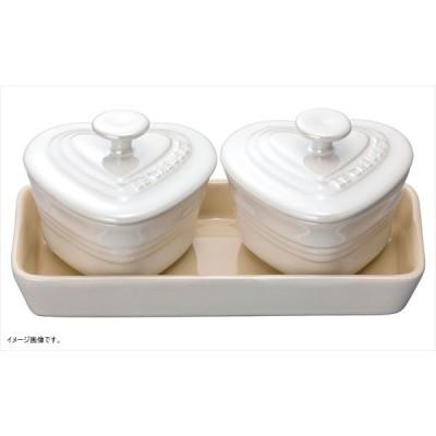 ル・クルーゼ(Le Creuset) プチ・ラムカン・ダムール・セット ホワイトラスター 910223-00-296 (日本正規販売品)
