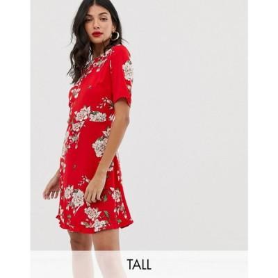 ワイ エー エス Y.A.S Tall レディース ワンピース ワンピース・ドレス Angelia floral print dress レッドフローラル