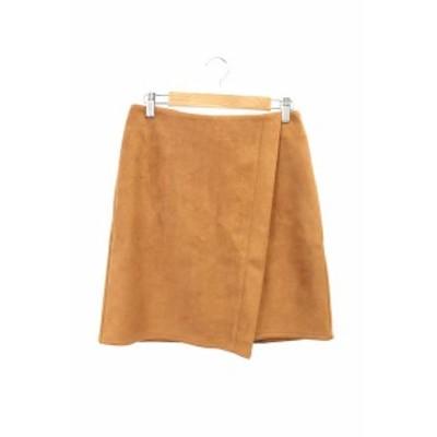 【中古】デュラスアンビエント DURAS ambient スカート 台形 ひざ丈 F 茶色 ブラウン /RT41 レディース