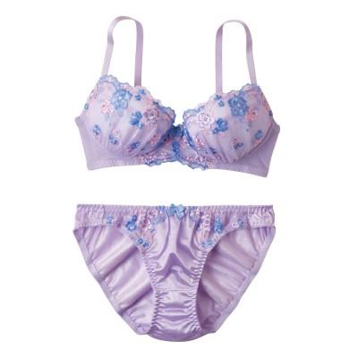 フラワーブラジャー・ショーツセット(D80/L) (ブラジャー&ショーツセット)Bras & Panties