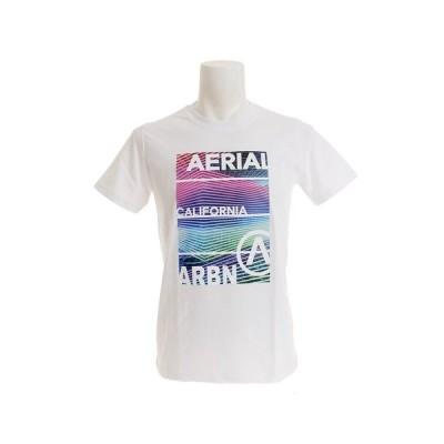 エアボーン(ARBN) Tシャツ メンズ 半袖 NEON PANEL ショートスリーブ AB99AW1179 WHT (メンズ)