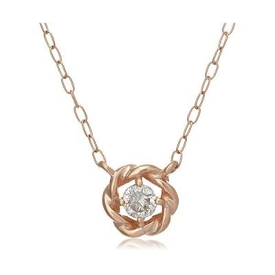 キャーロ ディ ディアマンテ CHIARO DI DIAMANTE K10ピンクゴールド×ダイヤモンド 0.10ct デザインペンダントネッ